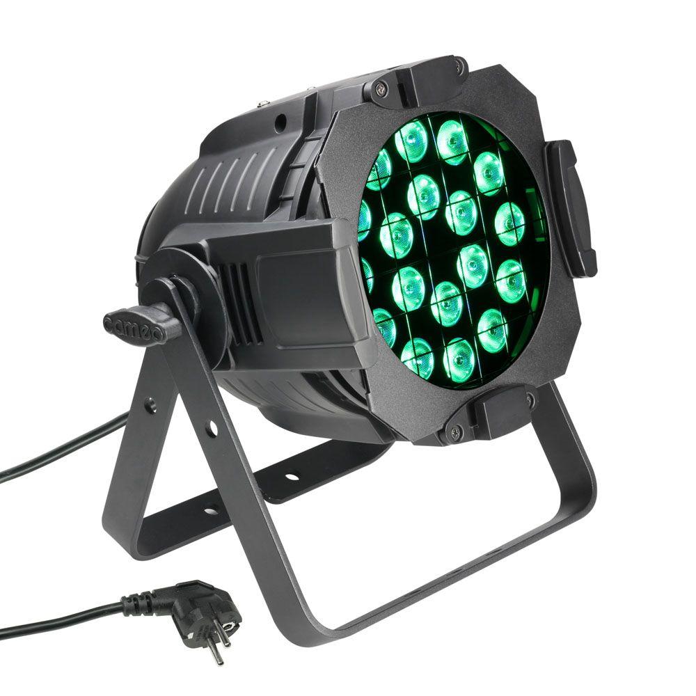 Studio PAR 64 CAN Q 8W - Foco PAR LED de cuatro colores RGBW 18 x 8 W con Carcasa negra