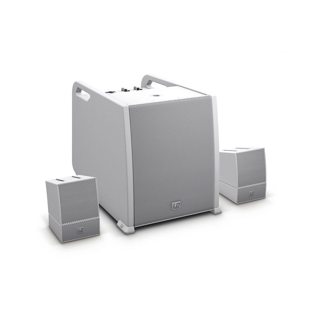 NEW CURV 500 AVS W - Sistema de array portátil AV con cables de altavoz, blanco