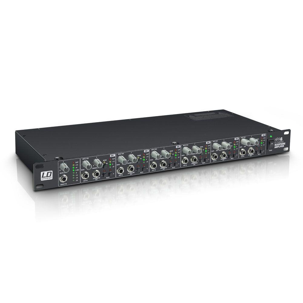 """HPA 6 - 19"""" Amplificador de Auriculares 6 Canales"""