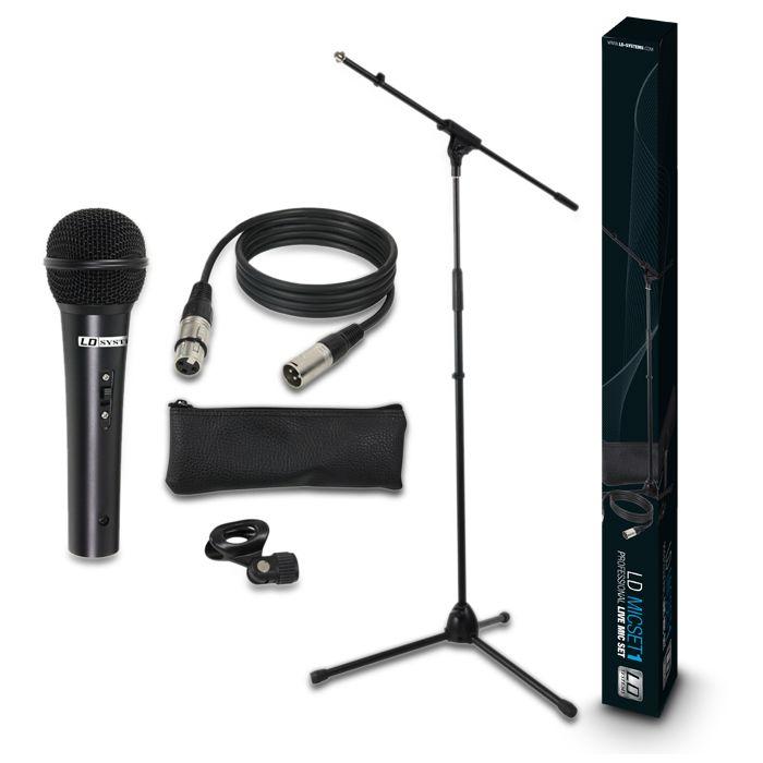 MIC SET 1 - Set de Micrófono, Soporte, Cable y Pinza