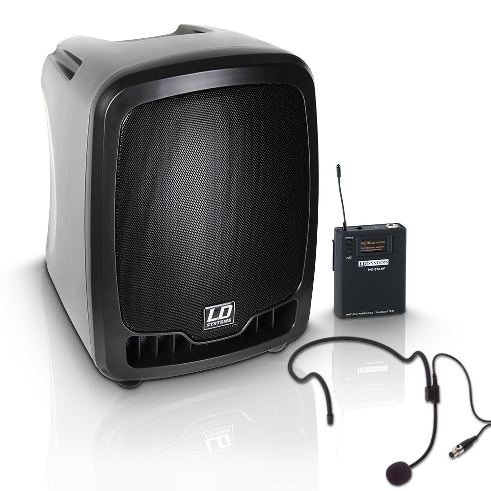 Roadboy 65 HS - Altavoz de PA portátil con Micro de Diadema