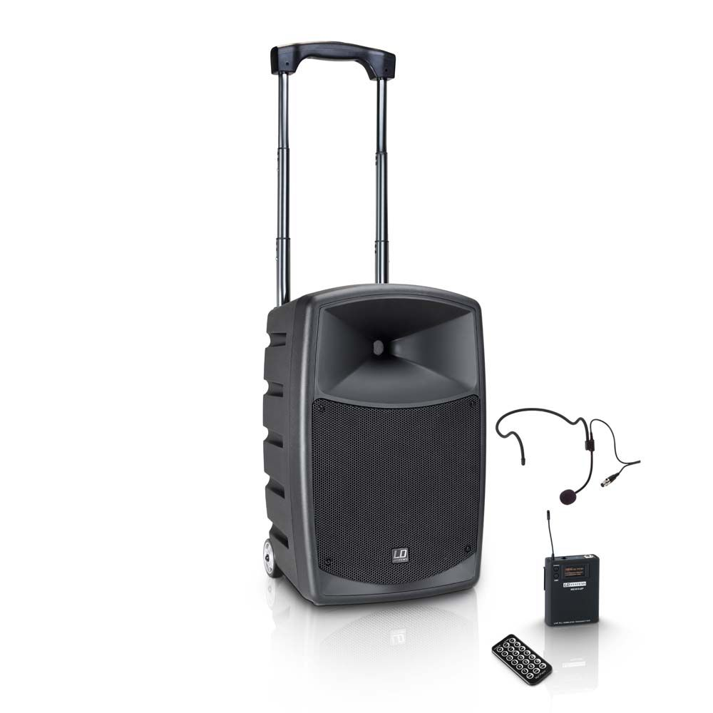 NEW ROADBUDDY 10 HS - Altavoz Bluetooth alimentado por batería, con mezclador y micro de diadema