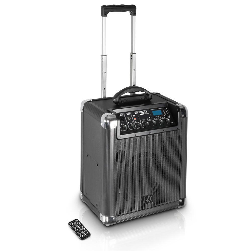 Roadjack 10 - Altavoz Bluetooth alimentado por batería, con mezclador
