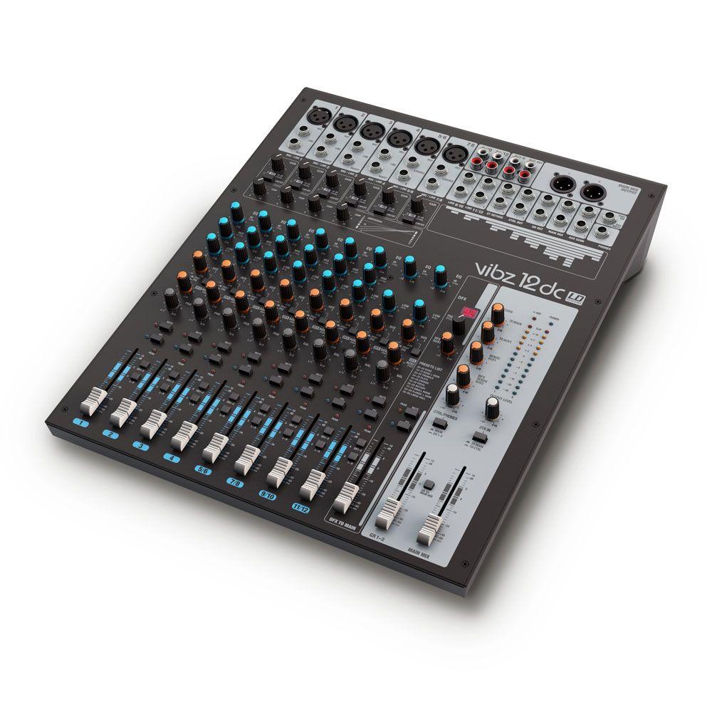 NEW VIBZ 12 DC - Mesa de mezclas de 12 canales con sección de efectos digitales y compresor
