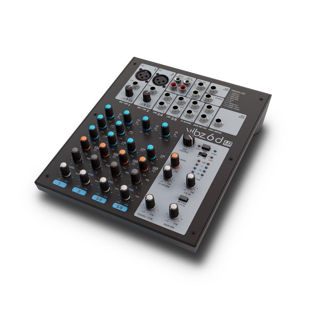 NEW VIBZ 6 D - Mesa de mezclas de 6 canales con sección de efectos digitales