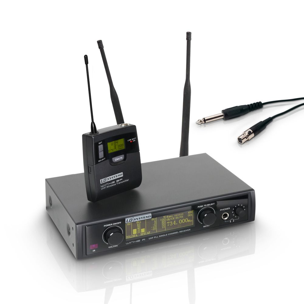 WIN 42 BPG - Sistema inalámbrico con Petaca y Cable de Guitarra
