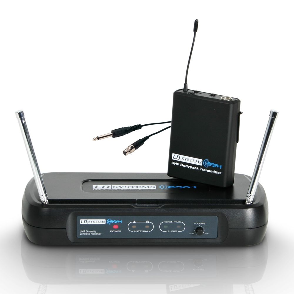 ECO 2 BPG 1 - Wireless Microphone System with Belt Pack and Guitar Cable