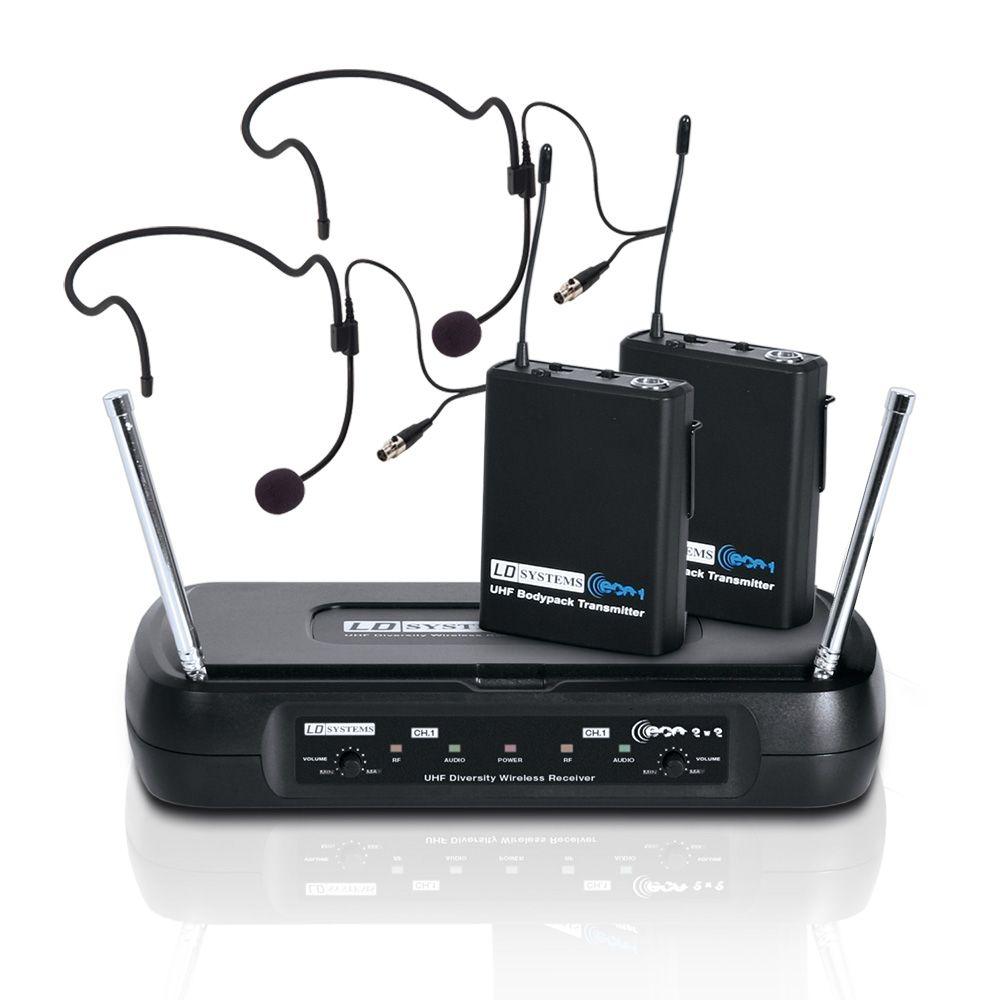 ECO 2X2 BPH 2 - Sistema inalámbrico con 2 petacas y 2 micrófono de diadema