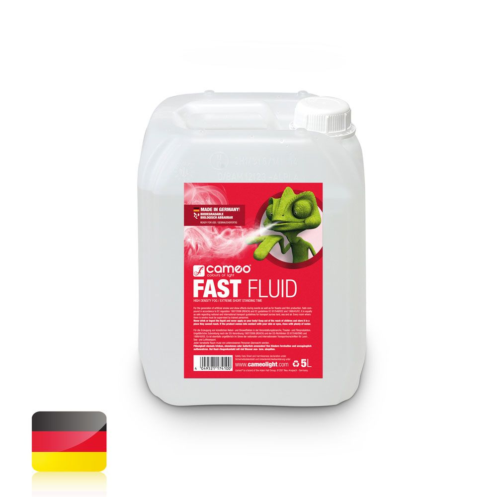 FAST FLUID 5L - Líquido de niebla de muy alta densidad y efecto muy corto - 5 l