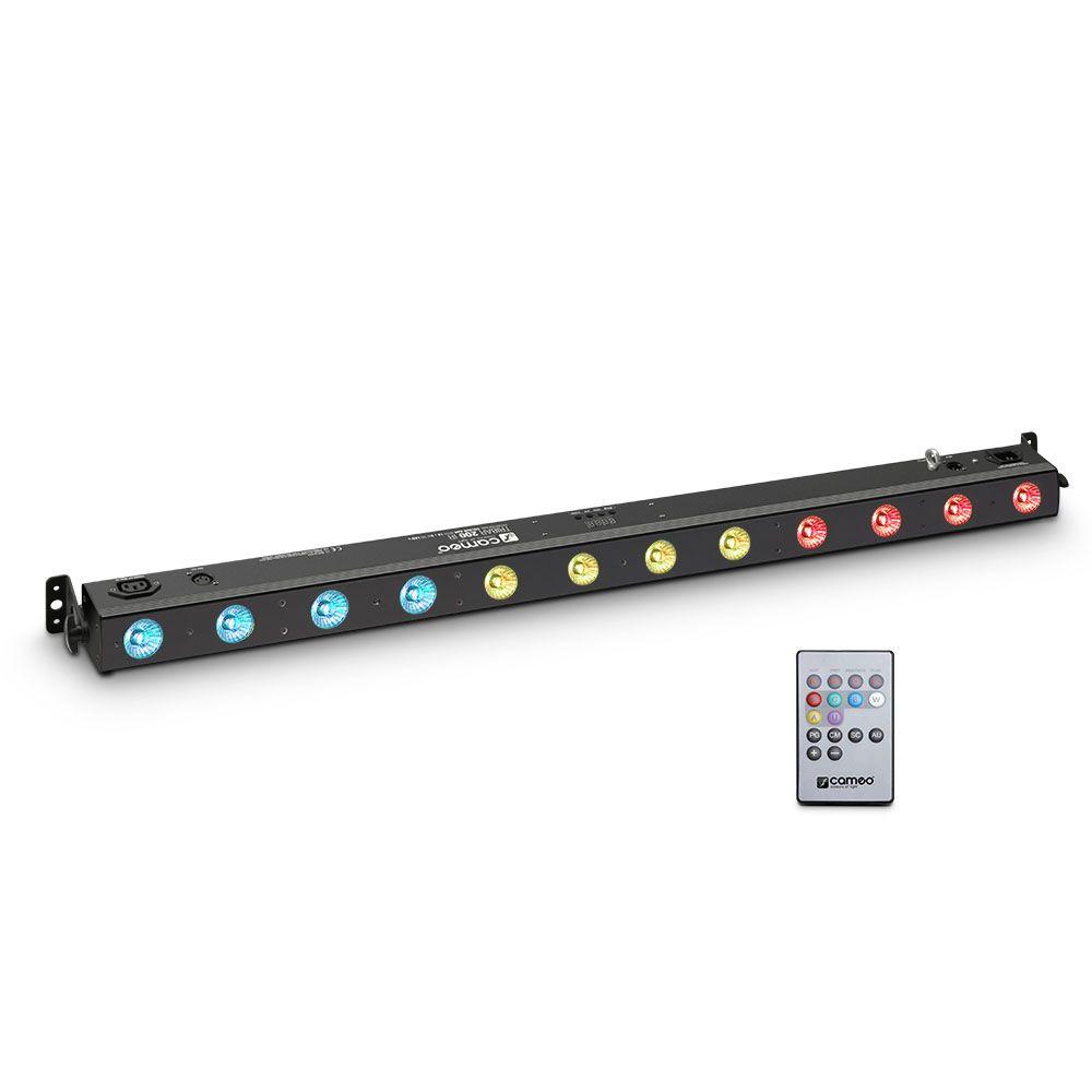 NEW TRIBAR 200 IR - Barra de LEDs tricolor 12 x 3 W con carcasa negra y mando a distancia por infrarrojos