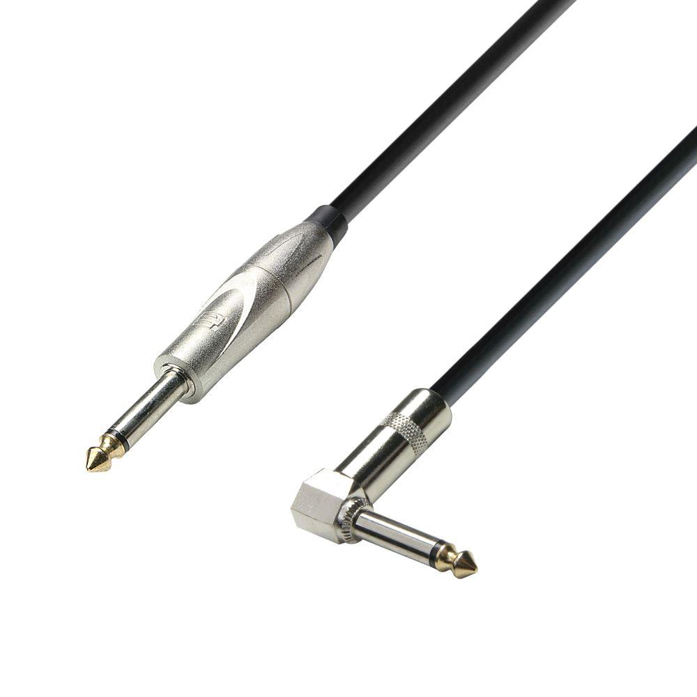 K3 IPR 0600 - Cable de Instrumento de Jack 6,3 mm mono a Jack 6,3 mm mono acodado 6 m