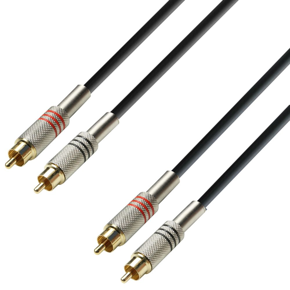 K3 TCC 0100 - Cable de Audio de 2 RCA macho a 2 RCA macho 1 m