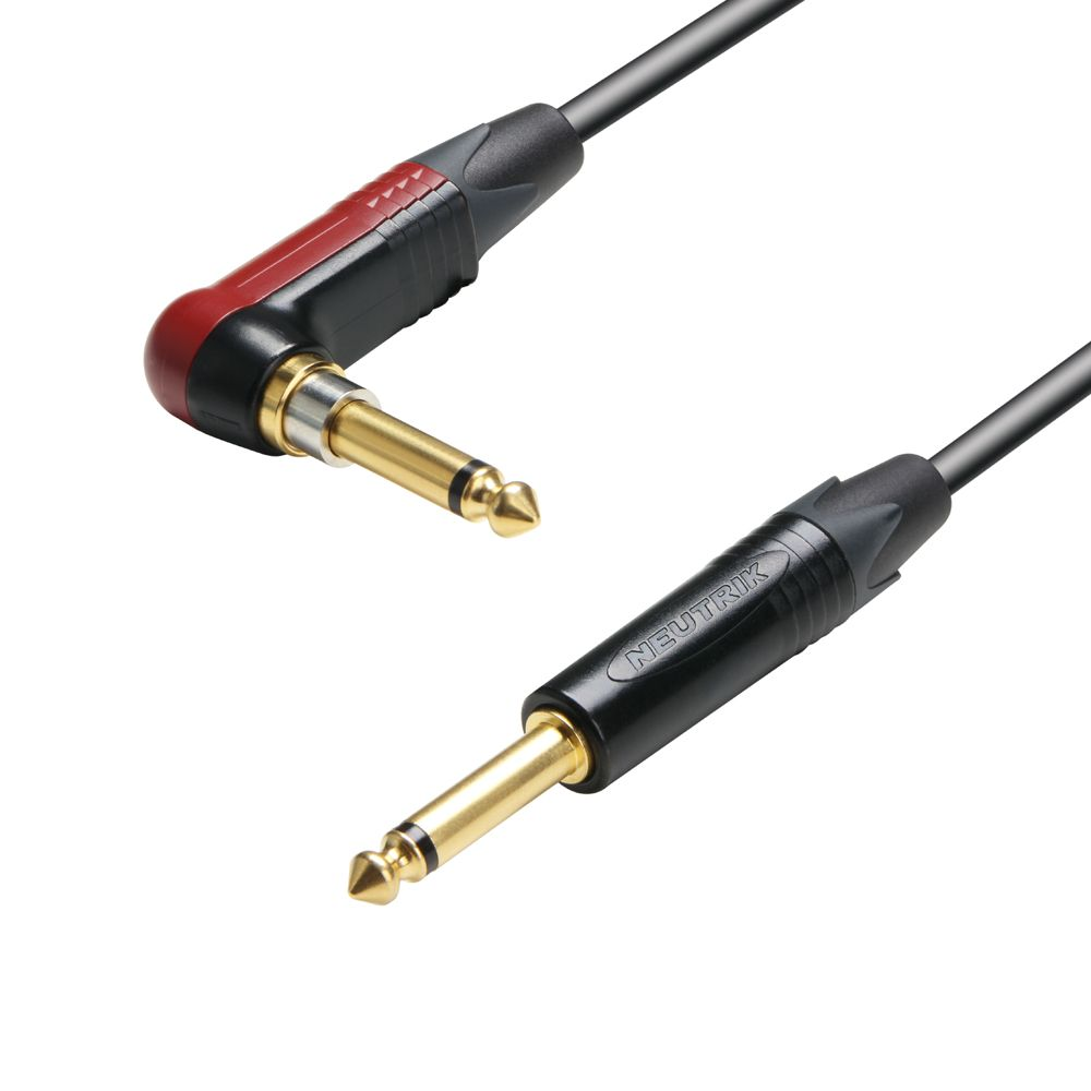 K5 IRP 0600 SP - Cable de Instrumento Neutrik silentPLUG de Jack 6,3 mm mono acodado a Jack 6,3 mm mono 6 m