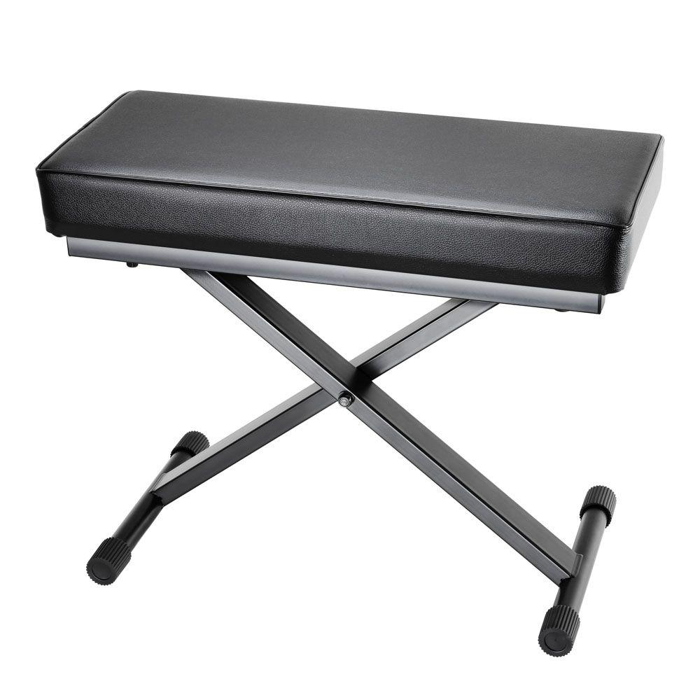 NEW SKT 17 - Banqueta de teclado plegable con acolchado extragrueso