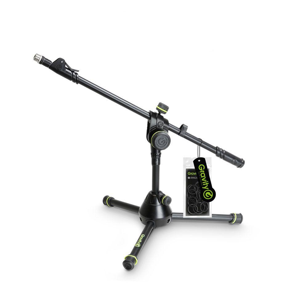 El Gravity MS 3122 HDB - Soporte de Micrófono corto con trípode plegable Base y 2-Punto de Ajuste telescópico Boom