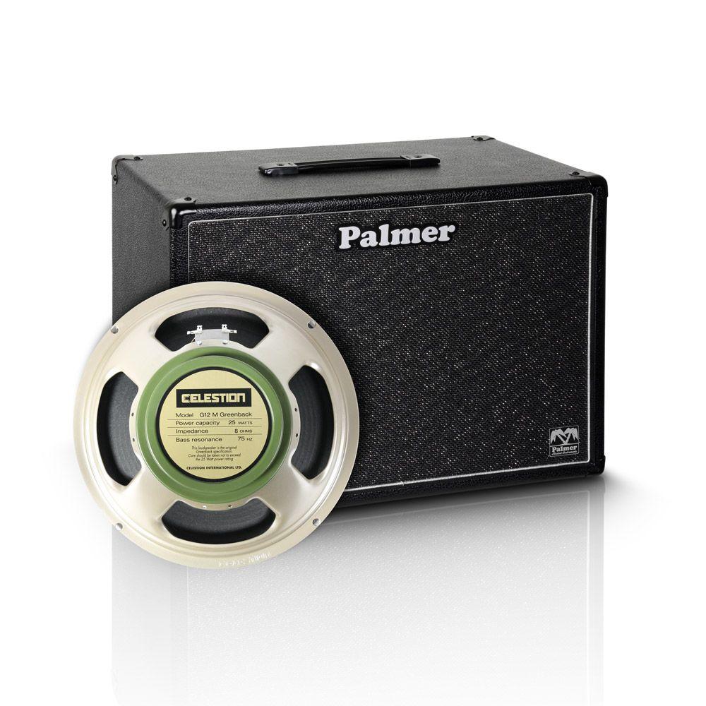 "Palmer MI CAB 112 GBK - Guitarra gabinete 1 x 12"" con Celestion G 12 M billete verde 8 Ohm"