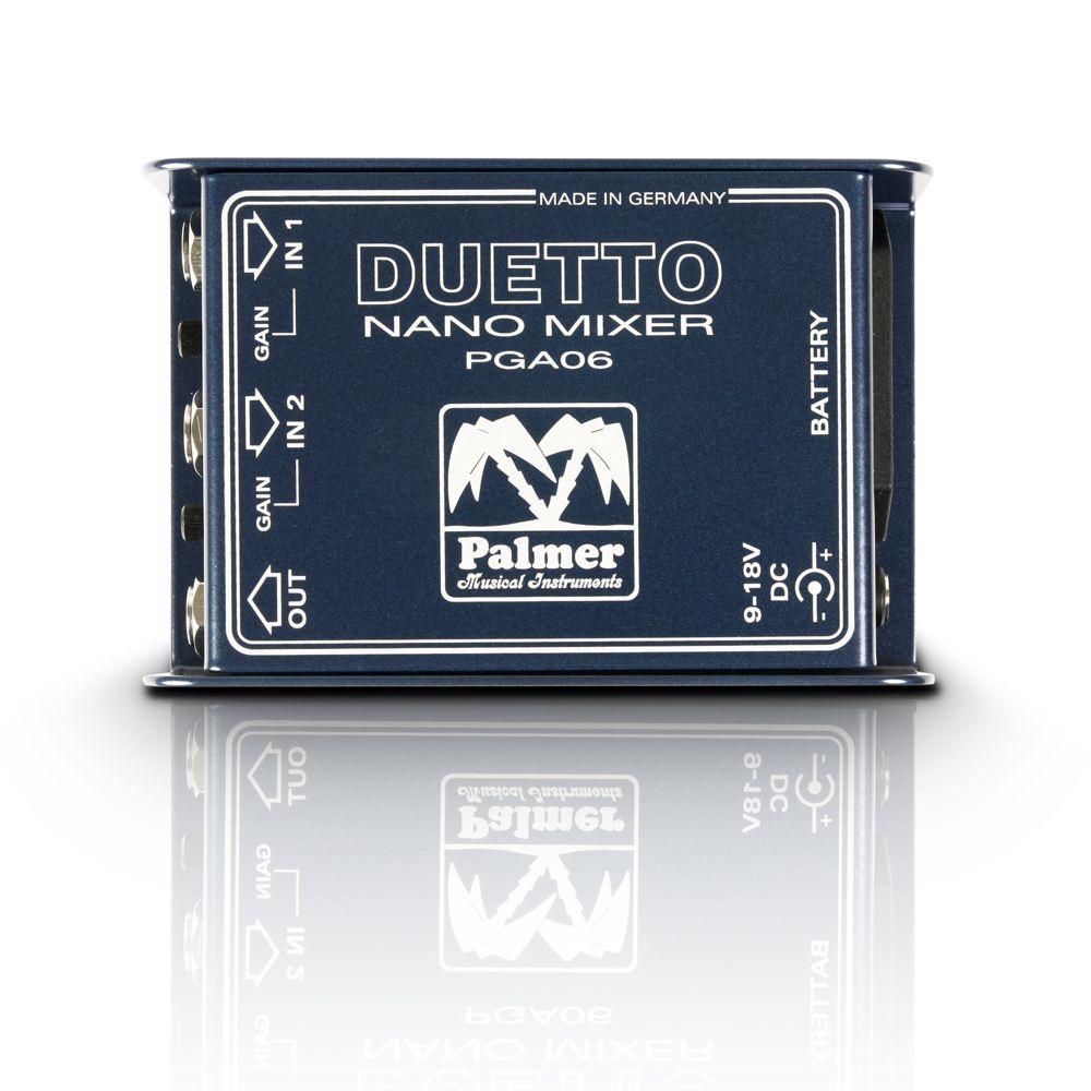 Palmer MI DUETTO - Nano mezclador para guitarras y Señalizaciones