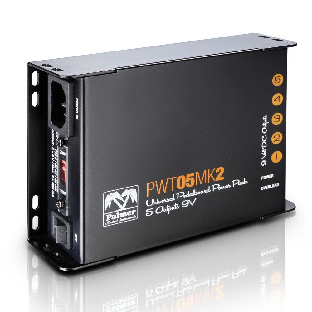 Palmer MI PWT 05 MK 2 - universal de 9V pedalera fuente de alimentación 5 salidas