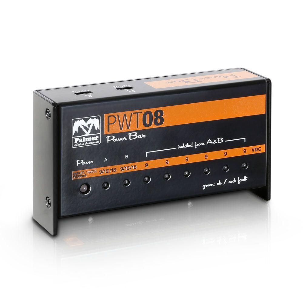 Palmer MI PWT 08 - 9V universal pedalera de fuente de alimentación 8 salidas
