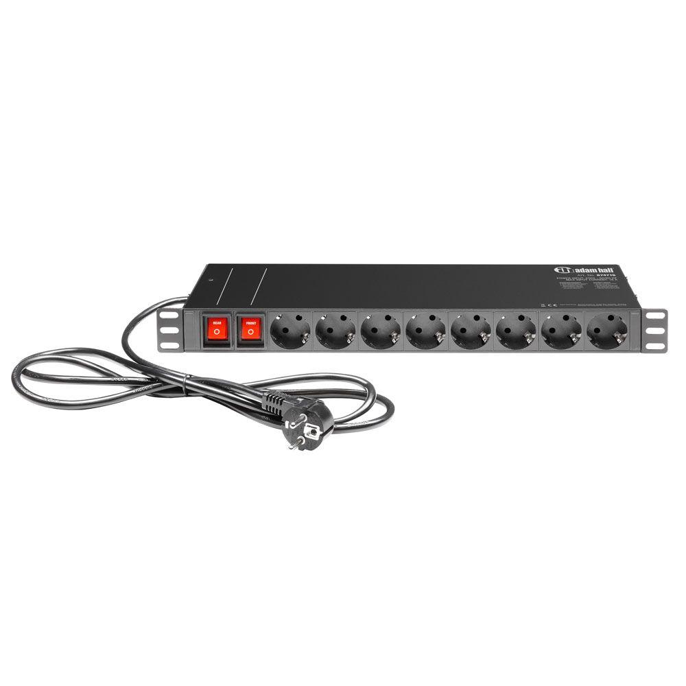"""Adam Hall 19 """"Piezas 874716 - Power Strip 1 U 19 sockets"""