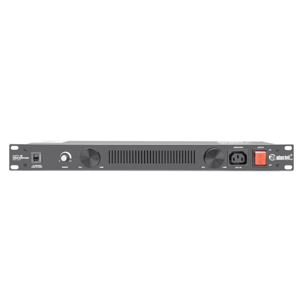 """Adam Hall 19 """"Piezas PCL 10 - Acondicionador de potencia con iluminación de rack"""