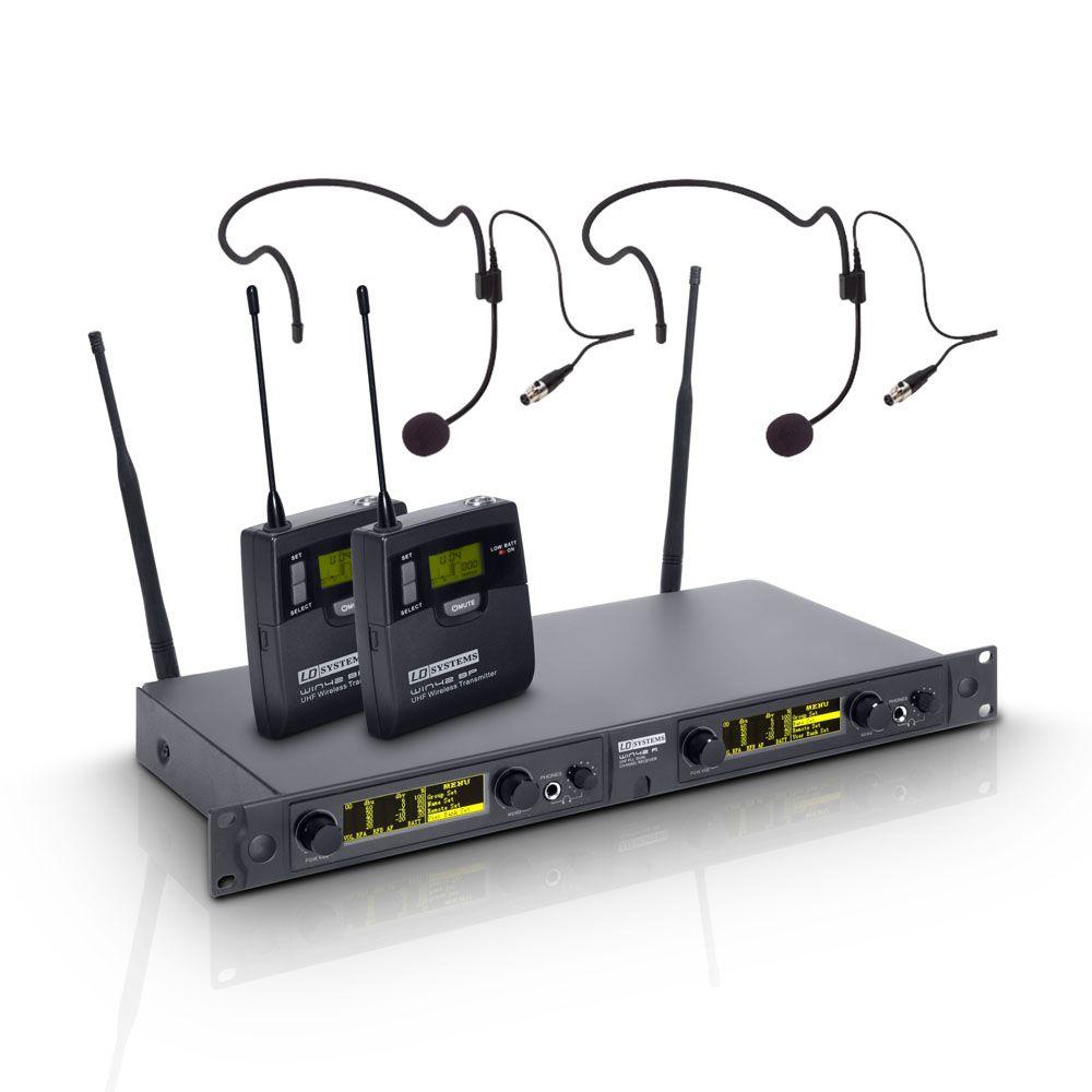 LD Systems WIN 42 HPB 2 B 5 - Sistema de micrófono inalámbrico con 2 x petaca y 2 x Auriculares