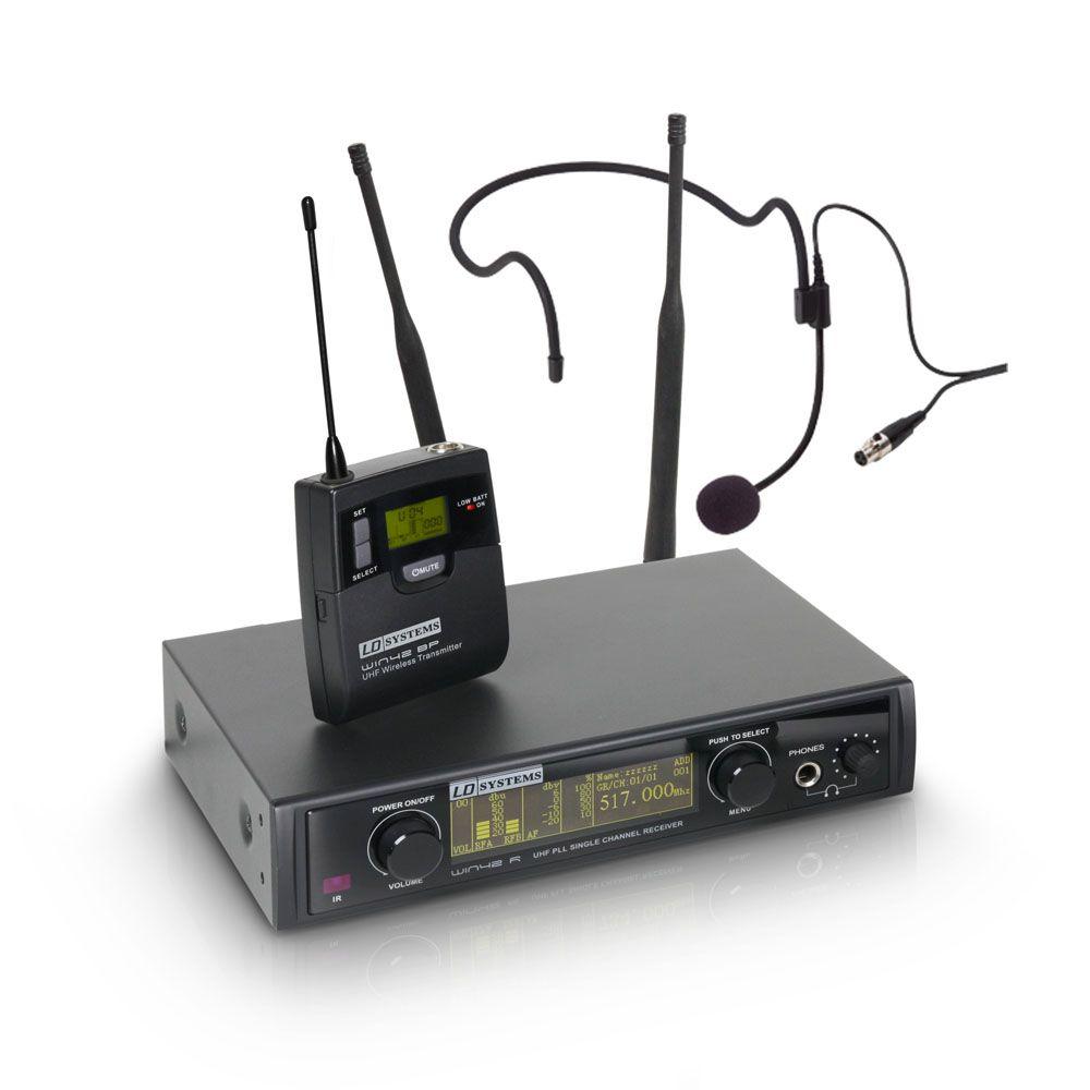 LD Systems WIN 42 HPB B 5 - Sistema de micrófono inalámbrico con petaca y Auriculares