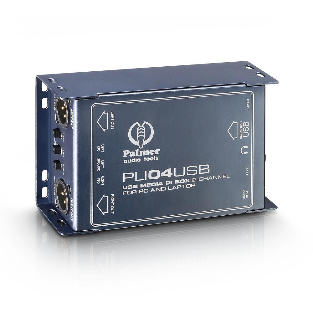 Palmer Pro PLI 04 USB - USB 2-Channel caja de inyección directa y línea aislador