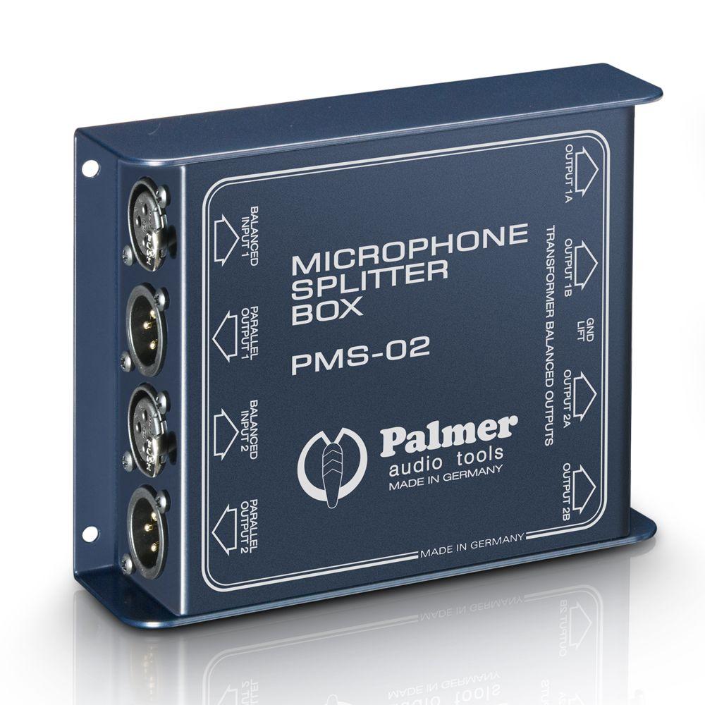 Palmer Pro PMS 02 - Micrófono de doble canal divisor