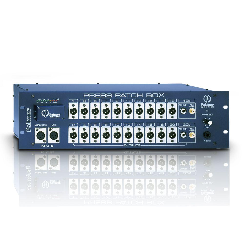 Palmer Pro Press Box Patch - Prensa Patch Box 10 canales mono / estéreo de 20 canales